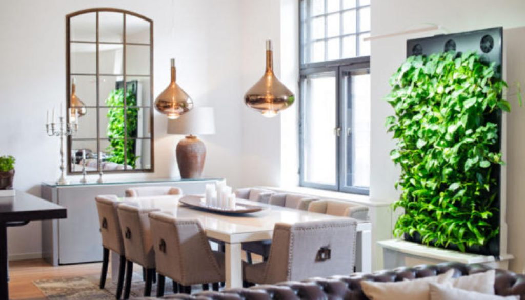 Naava Green Wall Brings Indoors the Power of 10000 Houseplants. Photo Credit - Naava